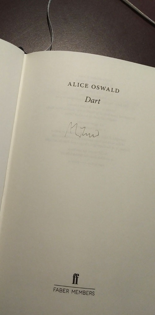 Dart, by Alice Oswald