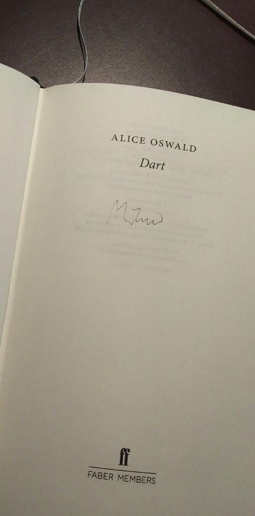 Dart, by Alice Oswald